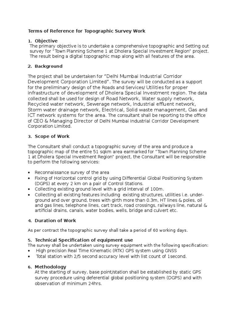 Rtk Survey Procedure