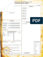 Dresden Files RPG Character Sheets w BG