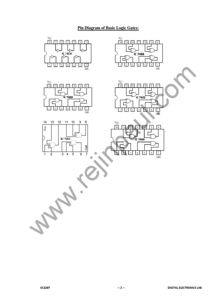 Digital Electronics Lab Manual Electronic 2 Bit Magnitude Comparator Logic Diagram Circuits