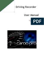 CaroO Driving Recorder v3.0.0 Manual Alpha