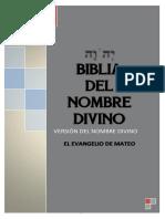 BIBLIA DEL NOMBRE DIVINO