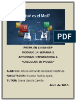 Calcular en Moles M14S3