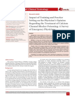 Impact of Training and Practice Setting on the Physician's Opinion Regarding the Treatment of Calcium Channel Blocker Poisoning