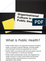 Matrikulasi S2 IKM 2014 - Organizational Culture in Public Health