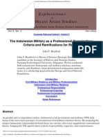 John F. Bradford - The Indonesian Military as a Professional