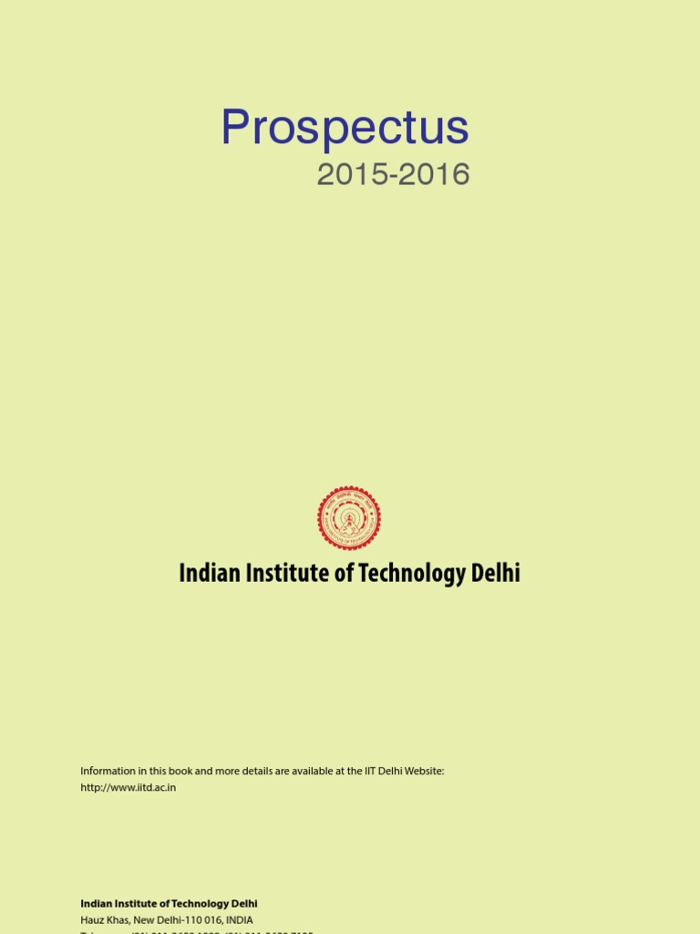Iit delhi prospectus 2015 16 master of science university and iit delhi prospectus 2015 16 master of science university and college admission yelopaper Choice Image