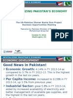 0920 FinMin Dar Presentation on Revitalizing Pakistan Economy DBDP