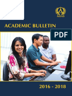 AIIAS Academic Bulletin (2016-2018)
