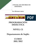 Programación didáctica inglés C1 2011 2012