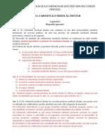 PROIECT DE LEGE Legea cabinetului medical dentar (1).doc