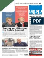 Asbury Park Press front page Thursday, June 23 2016