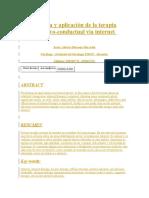 CB_ARTEficacia y Aplicación de La Terapia Cognitivo Vía Internet
