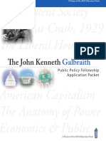 JK Galbraith Public Policy Fellowship Application Packef