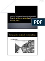 Construction Methods of Metro Lines
