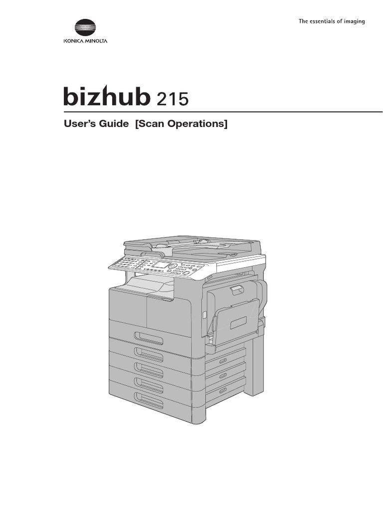 Bizhub 215 Scan Manual   Image Scanner   File Transfer Protocol