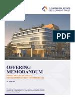 Fusion Real Estate Development Trust- Offering Memorandum