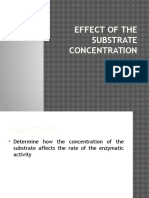 Effect of Substrate Conecentration