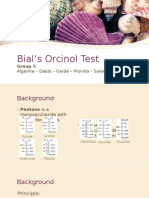 Bials Orcinol Test Group 5 BMLS 2I