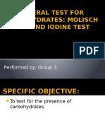 Molisch and Iodine Test