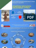 Potencjal i Perspektywy Wykorzystania Zasobow Wod Termalnych w Polsce