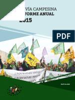 La Vía Campesina – Informe Anual 2015