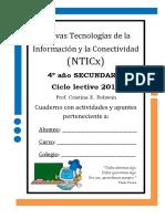 Cuaderno Con Actividades y Apuntes de NTICx 4_ Año 2014 IGSM