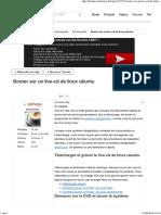 Booter Sur Un Live-CD de Linux Ubuntu