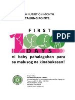 2016 Nutrition Month Talking Points