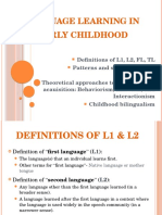 First Language Learning (2)