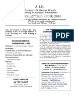 AIR Newsletter JUNE 2016