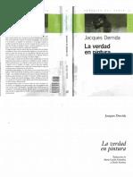 Derrida, Jacques - La Verdad en Pintura
