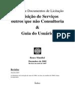 Modelos de Documento de Licitação - Aquisição de Serviços e Outros - Guia Do Usuário