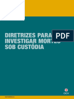 Diretrizes para investigar mortes sob custódia