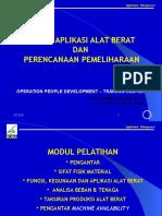 Aplikasi & Produksi Alat- Alat Beratt