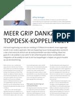 Meer grip dankzij TOPdesk-koppelingen