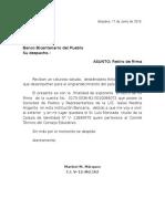 Carta Retiro de Firma en El Banco