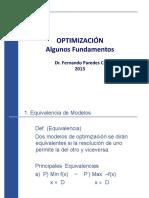 Optimizacion Algunos Fundamentos Dr. Fernando Paredes