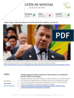 Boletín de noticias KLR 23JUN2016