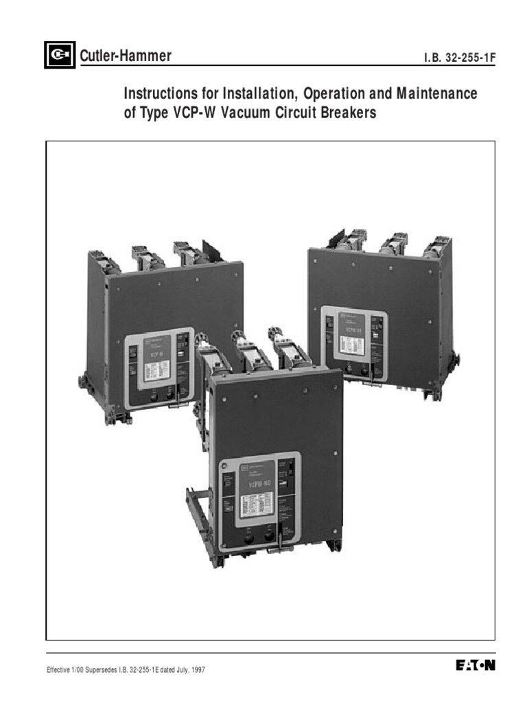 Ib 32 255 1f instructions for installation operation and ib 32 255 1f instructions for installation operation and maintenance of type vcp w vacuum circuit breakerspdf insulator electricity volt sciox Choice Image