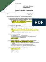 Green Bwlt Question Paper