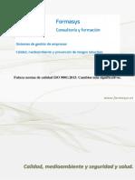 ISO 9001 2015. Cambios Mas Significativos