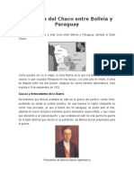 La Guerra Del Chaco Entre Bolivia y Paraguay