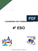 Cuaderno Formulacion 4 Eso 2013