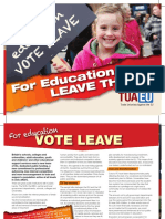 For Education Vote Leave