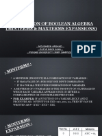 Application of Boolean Algebra(Minterms & Maxterms)