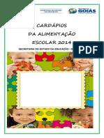 CardáPio - Todas as Escolas - 2014