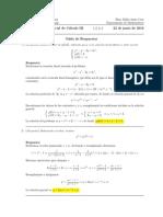 Corrección Primer parcial Cálculo III 22 de junio de 2016 (tarde)