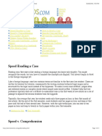 Speed Reading a Case