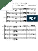 Concerto 4 Violines Telemann Violines 1