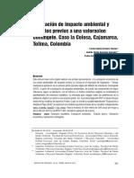 Evaluación de impacto ambiental. Caso la Colosa, Cajamarca, Colombia